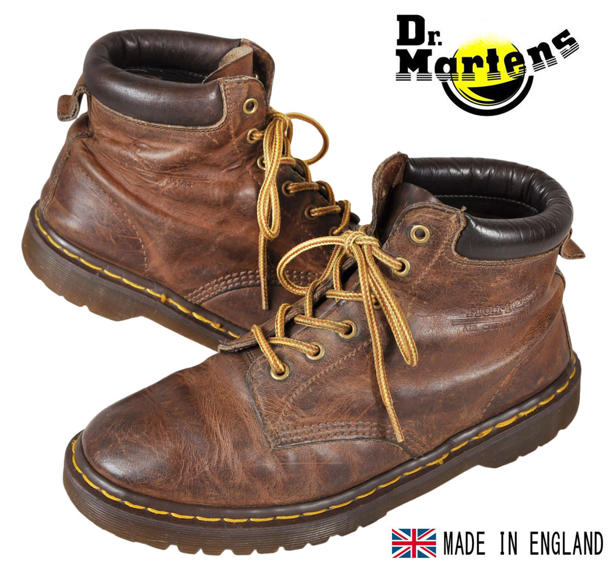 ae7f88ab55348 England made vintage   Dr.martens Martens   6 hole boots   brown leather    JPN28.0cm UK9 ▽