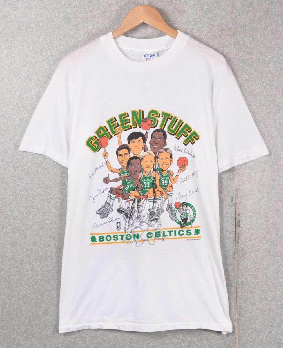 new styles 46e35 1eb68 Vintage 1980's USA-made / SALEM Salem / Champion champion body / NBA Boston  Celtics Boston Celtics / team caricature short sleeve T shirt / White / ...
