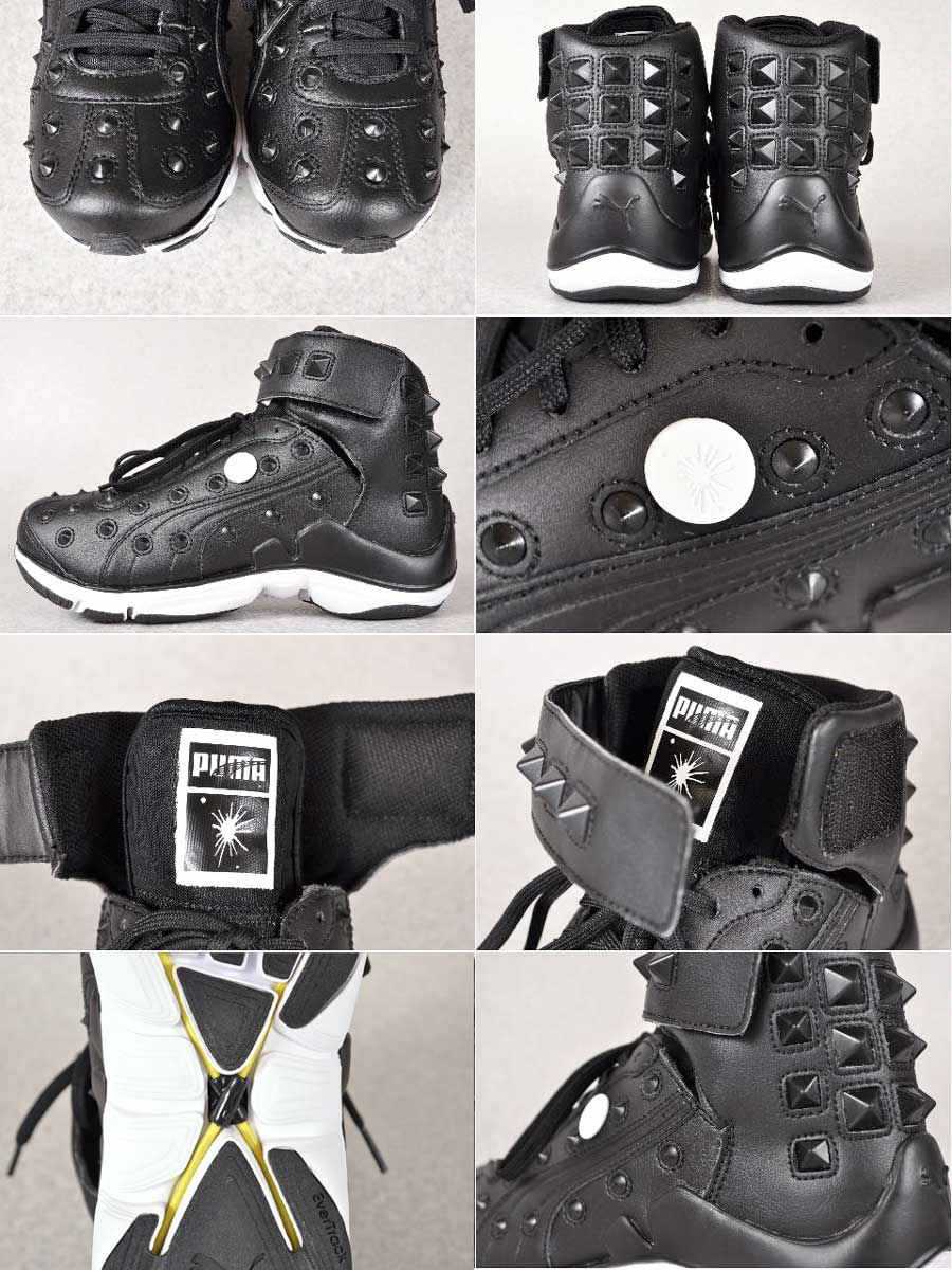23d4f6b61ee9c9 PUMA by MIHARA YASUHIRO PUMA by Mihara Yasuhiro   MY-79   studded with high  cut sneaker   black leather   JPN23.0cm
