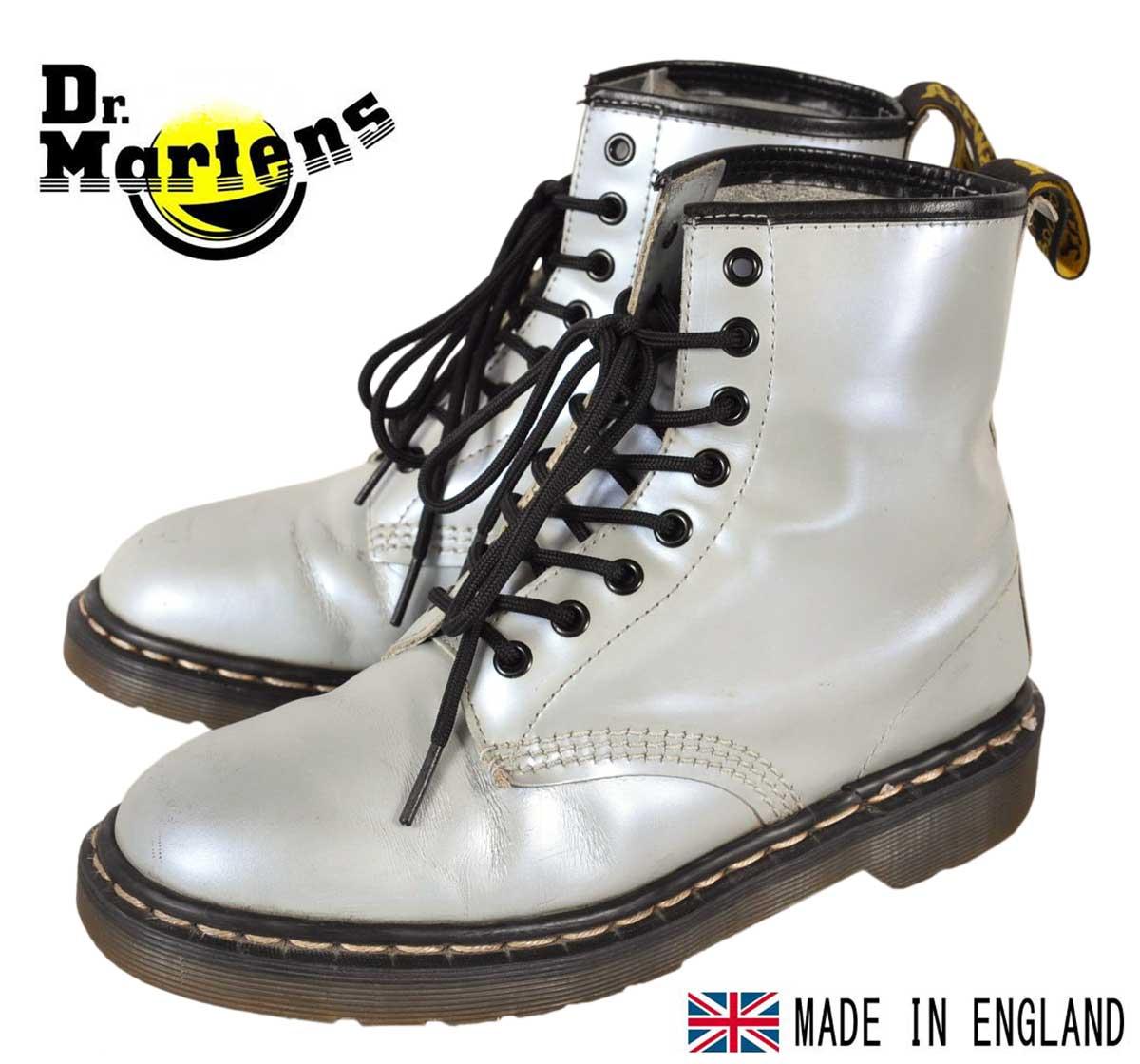イングランド製 ヴィンテージ / Dr.martens ドクターマーチン / 8ホールブーツ / パールグレー レザー / UK6 JPN25.0cm【中古】▽