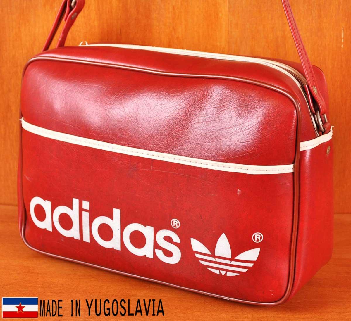 309f32b9e78 Vintage 1970s Yugoslavian-made / adidas adidas / Sport shoulder bag / red ×  white ...