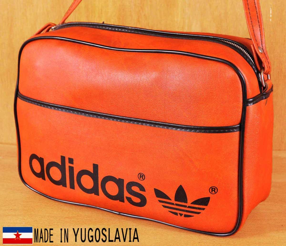 ヴィンテージ 1970年代 ユーゴスラビア製/ adidas アディダス/ アディダス スポーツ adidas ショルダーバッグ 1970年代/ オレンジ×ブラック【中古】▽, グラスマーブル:f4c9ccc8 --- officewill.xsrv.jp
