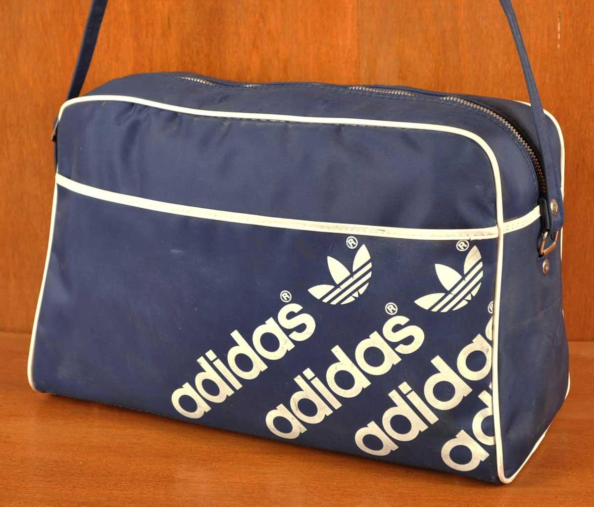 ヴィンテージ 1980年代初期// adidas アディダス ヴィンテージ/ 3連ロゴライン ナイロン adidas スポーツ ショルダーバッグ/ ネイビー×ホワイト【中古】▽, キープイット:ca0da507 --- officewill.xsrv.jp