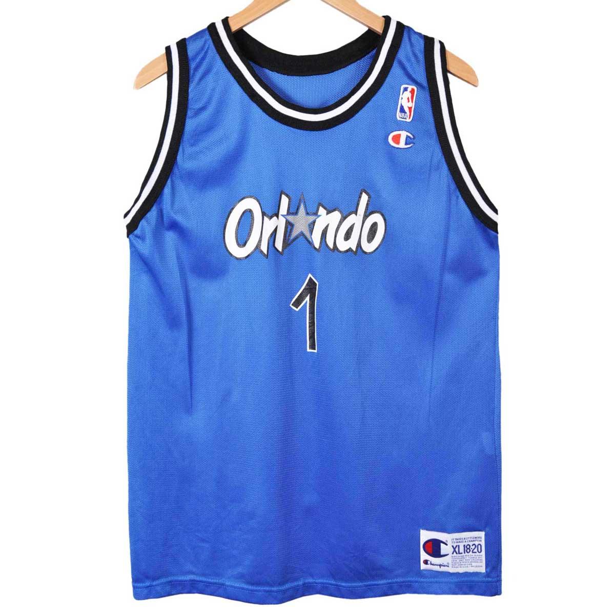 03956bde9 Vintage 1990 s USA-made and CHAMPION champion   NBA ORLANDO MAGIC Orlando  Magic   anfernee ...