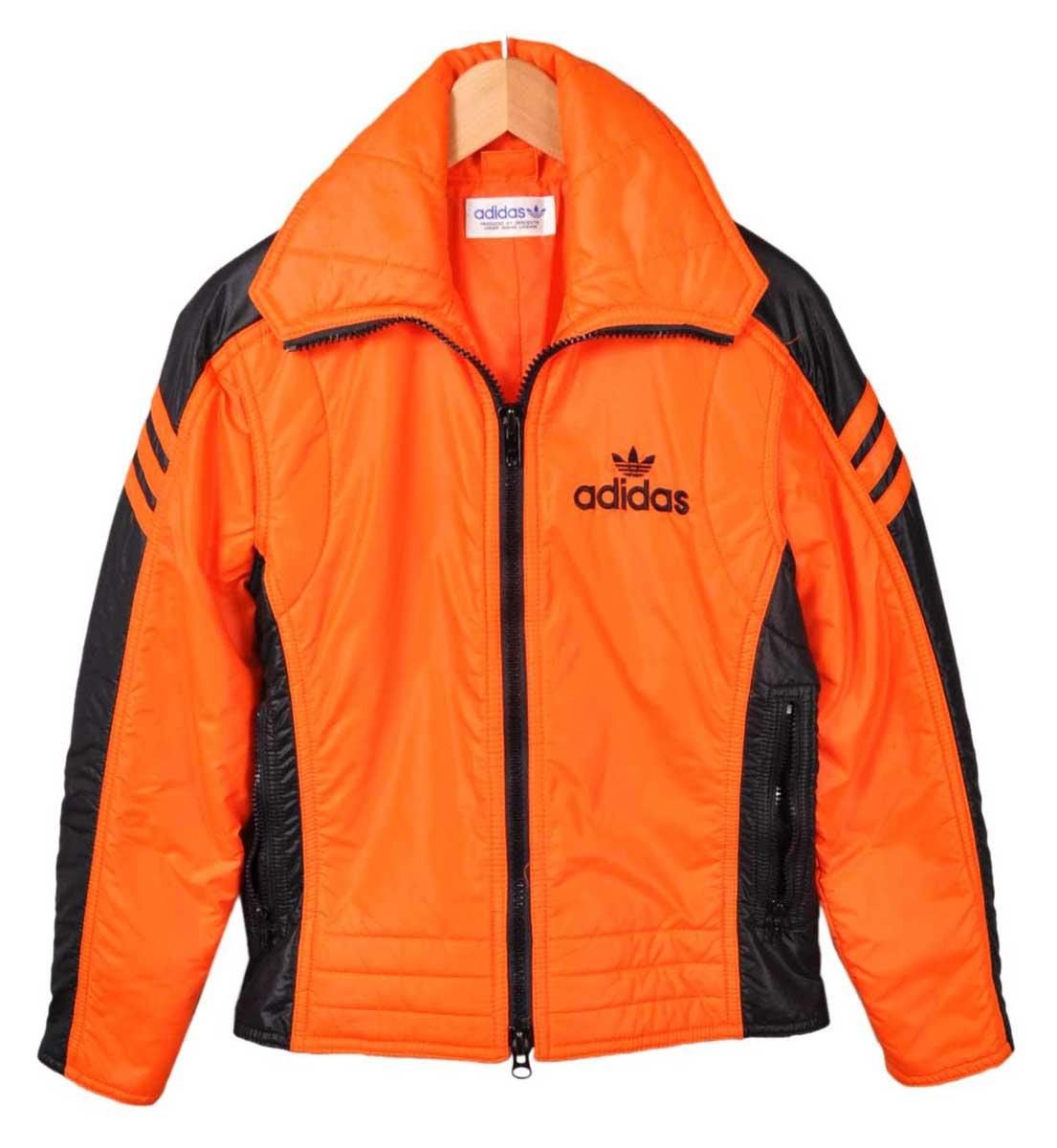 Vintage 1980 s   adidas adidas   ski jacket nylon jacket and orange x black    ladies S equivalent  23b7c708df67