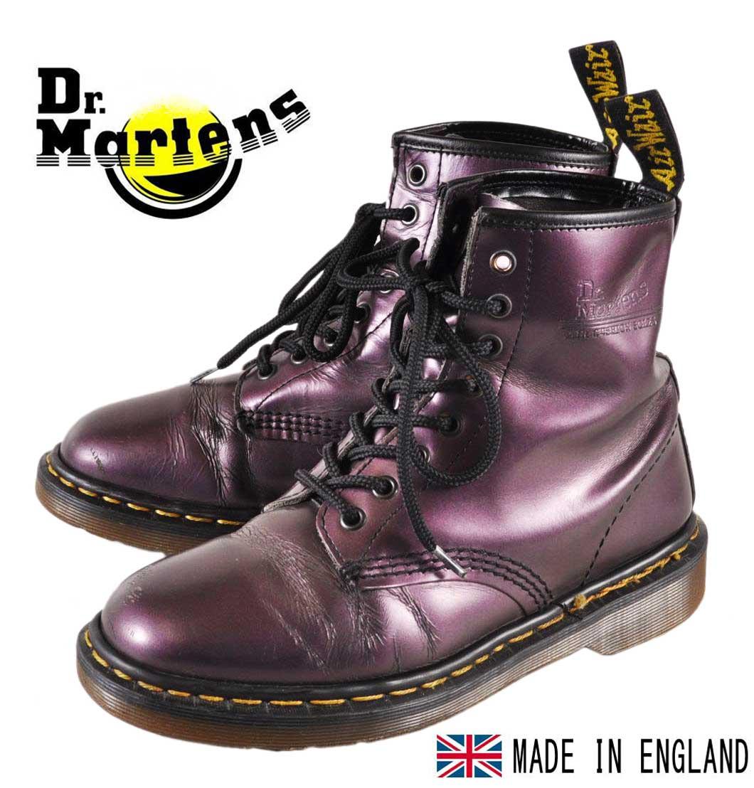 イングランド製 ヴィンテージ / Dr.martens ドクターマーチン / 8ホールブーツ / メタリックパープル レザー / UK6 JPN25.0cm【中古】▽