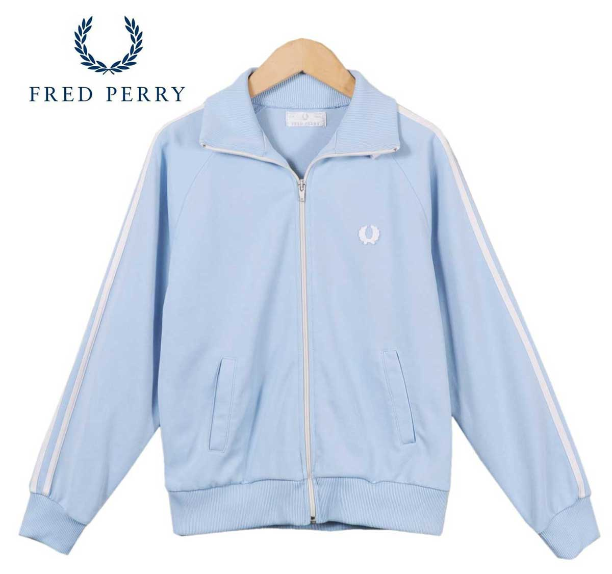 f1f6d184 Made in Portugal / FRED PERRY Fred Perry / Jersey / baby blue x white ...