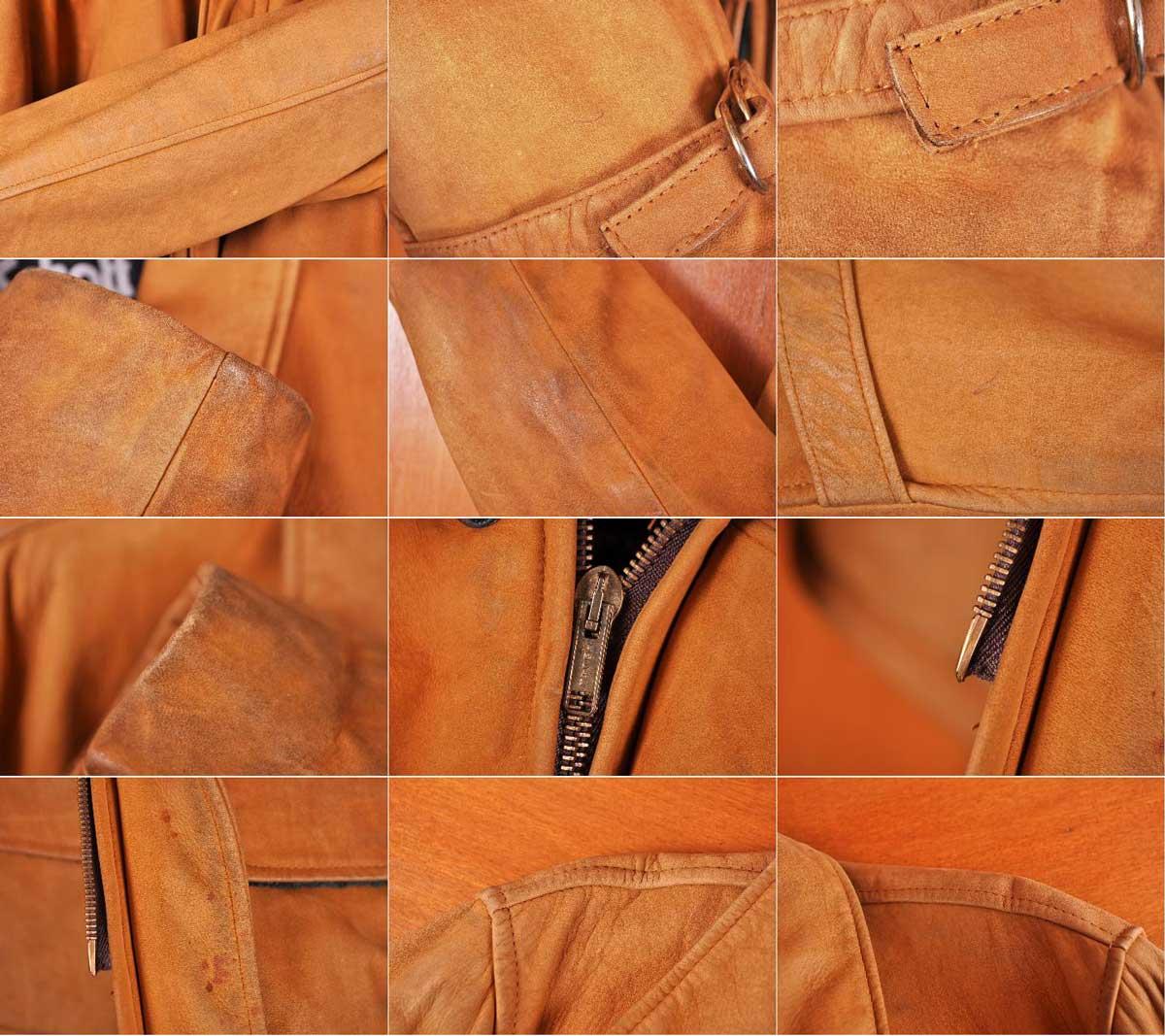 美国制造 / 肖特拍 / 磨砂皮革外套和羊毛检查班轮和骆驼棕色 nubacklezer / 38 男士 M 等效︰