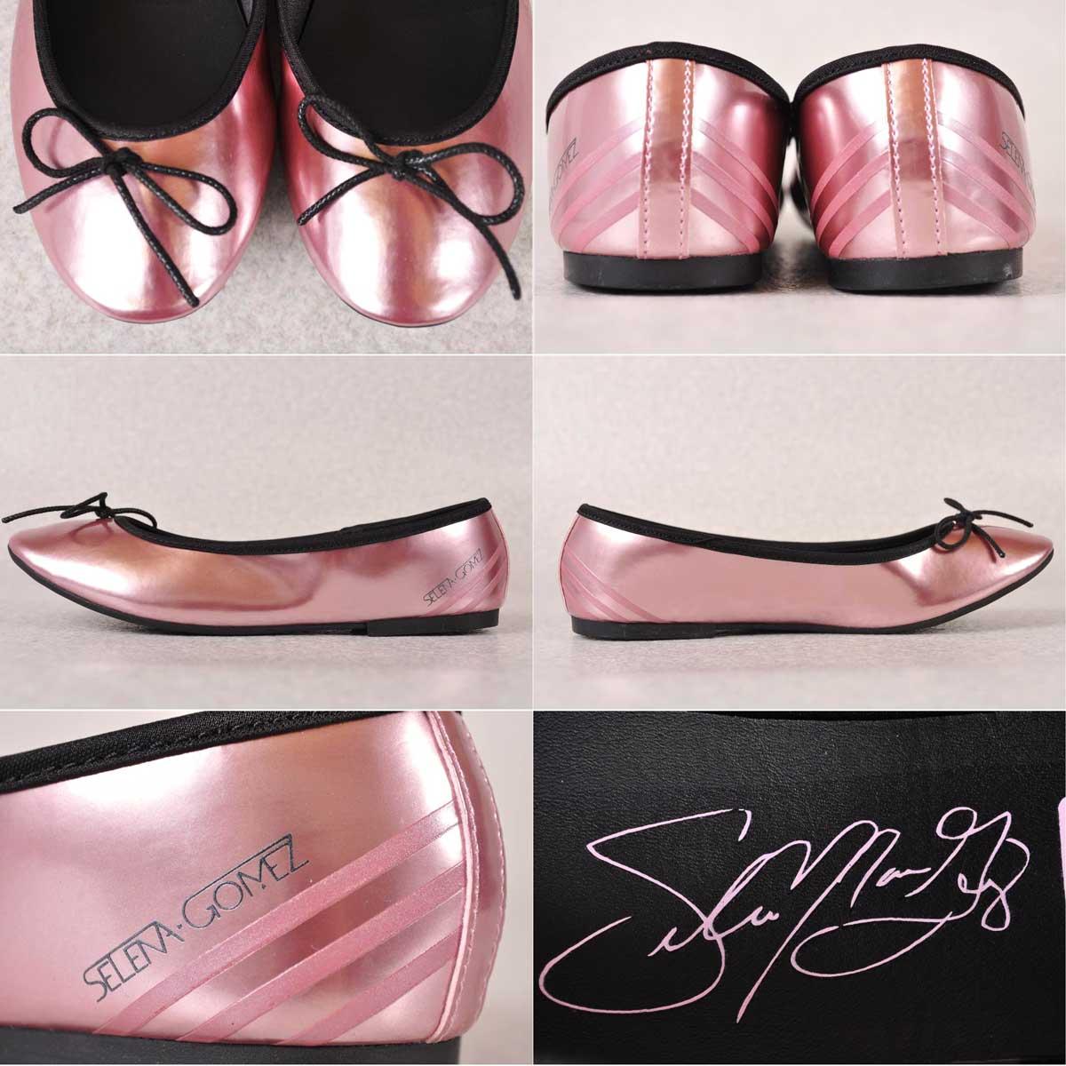 new photos detailed look classic 2013 made / adidas x SELEMA GOMEZ adidas / Selena Gomez / NEOBALLERINA SG  neo ballerina SG / pumpssneaker / metallic pink ▽