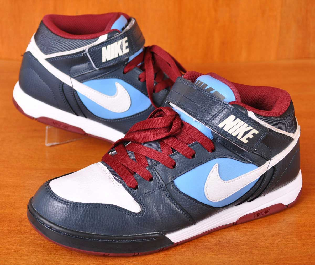 2010-year NIKE Nike   AIR TWILIGHT MID air twilight mid   mid cut skate  shoes   Navy x white light blue   JPN27.0cm  067720f6a026