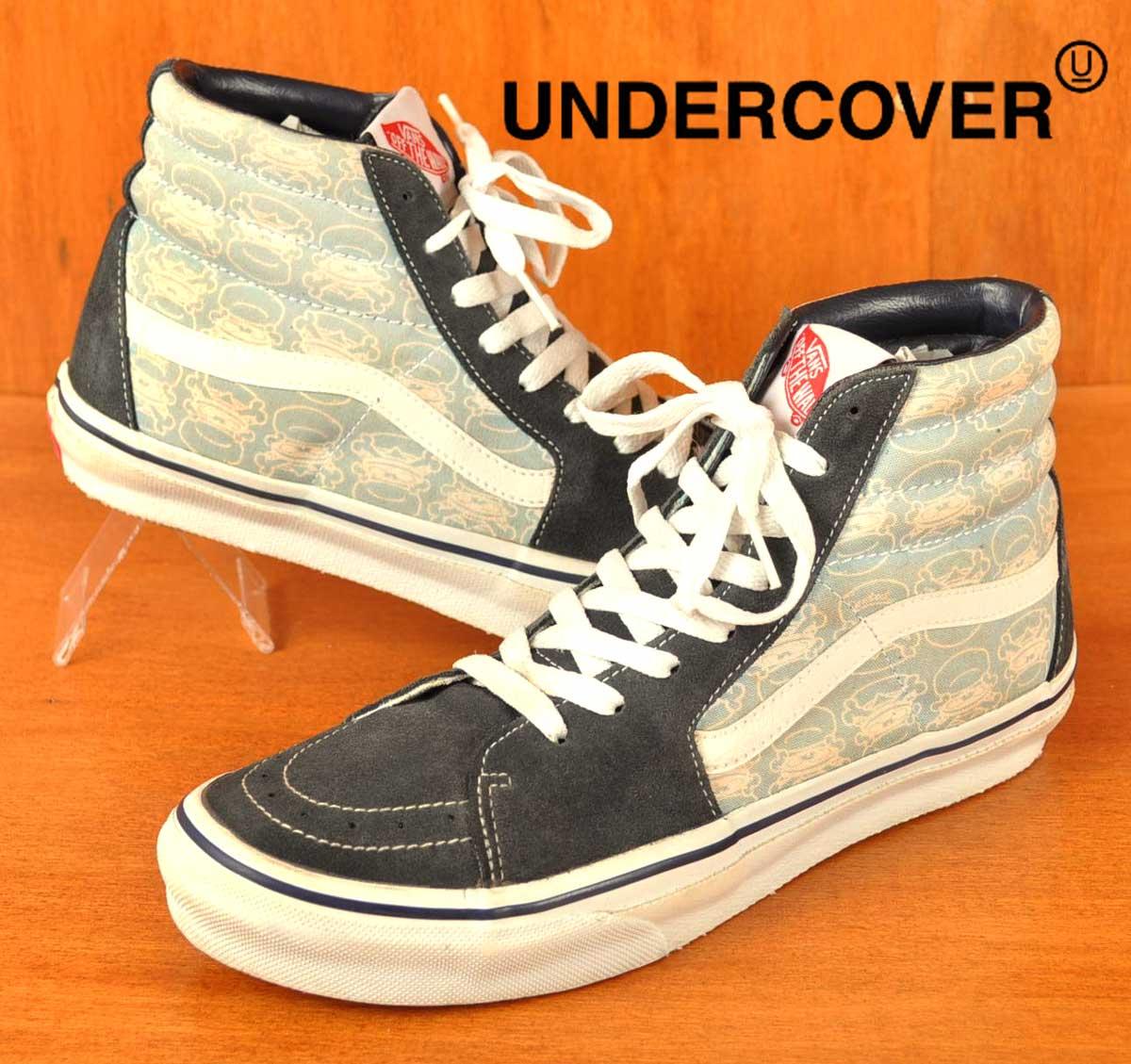 9687a69da3 VANS×undercover vans x undercover   SK8-HI skating high HI-TOP high top    Navy x blue Burger pattern   JPN28.0cm