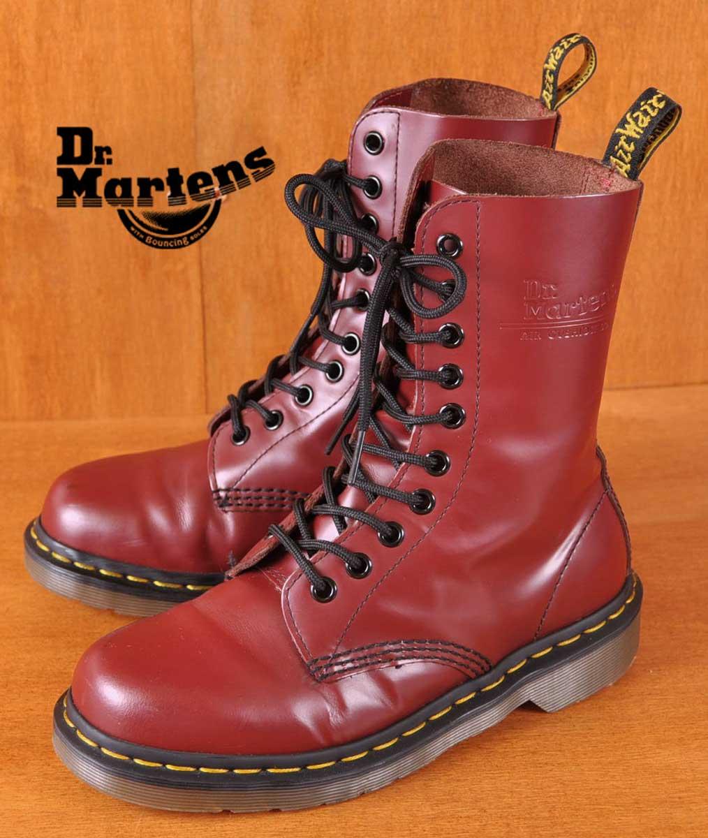 Dr.martens ドクターマーチン / 10ホールブーツ / チェリーレッド レザー / UK4 JPN23.0cm【中古】▽□