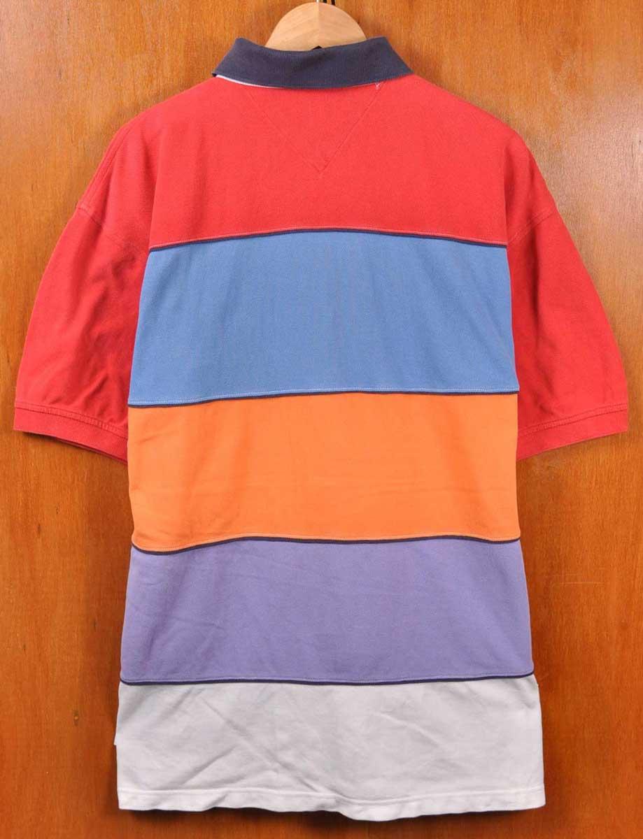 8a596c33 ... TOMMY HILFIGER Tommy Hilfiger / short-sleeved polo shirt / multicolor  stripes / mens L ...