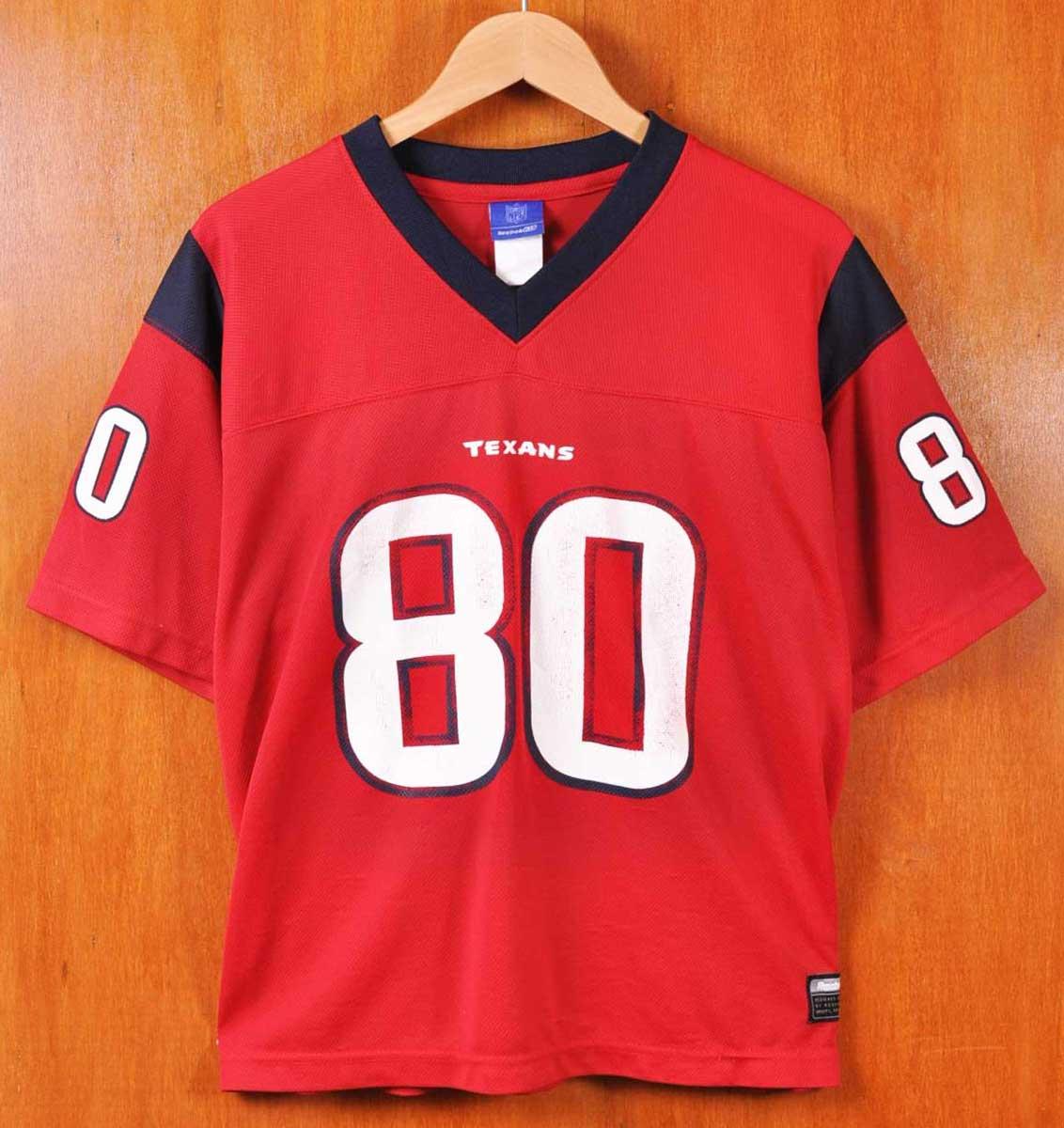 USED CLOTHING PENGUINTRIPPER  Reebok Reebok   NFL Houston Texans Houston  Texans   Andre   Johnson   football shirt numbering mesh Jersey   Red    Navy   mens ... 407fa9f2a
