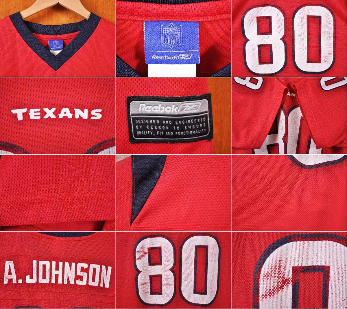 Reebok Reebok   NFL Houston Texans Houston Texans   Andre   Johnson   football  shirt numbering mesh Jersey   Red   Navy   mens L ▽ e0fa03d7f
