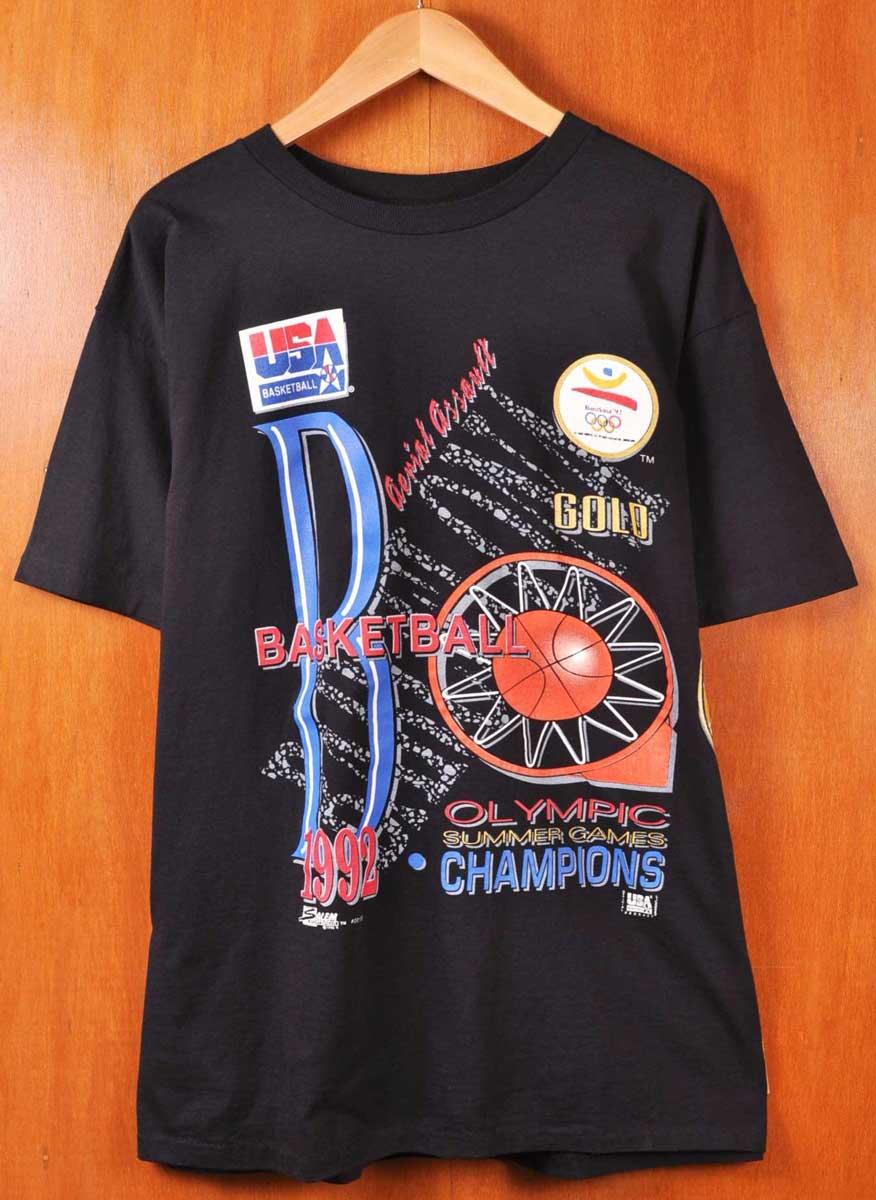 f18b14c438eaa Representative from / SALEM Salem / Barcelona Olympics basketball United  States dream team championship memory / short sleeves T-shirt / black / men  ...