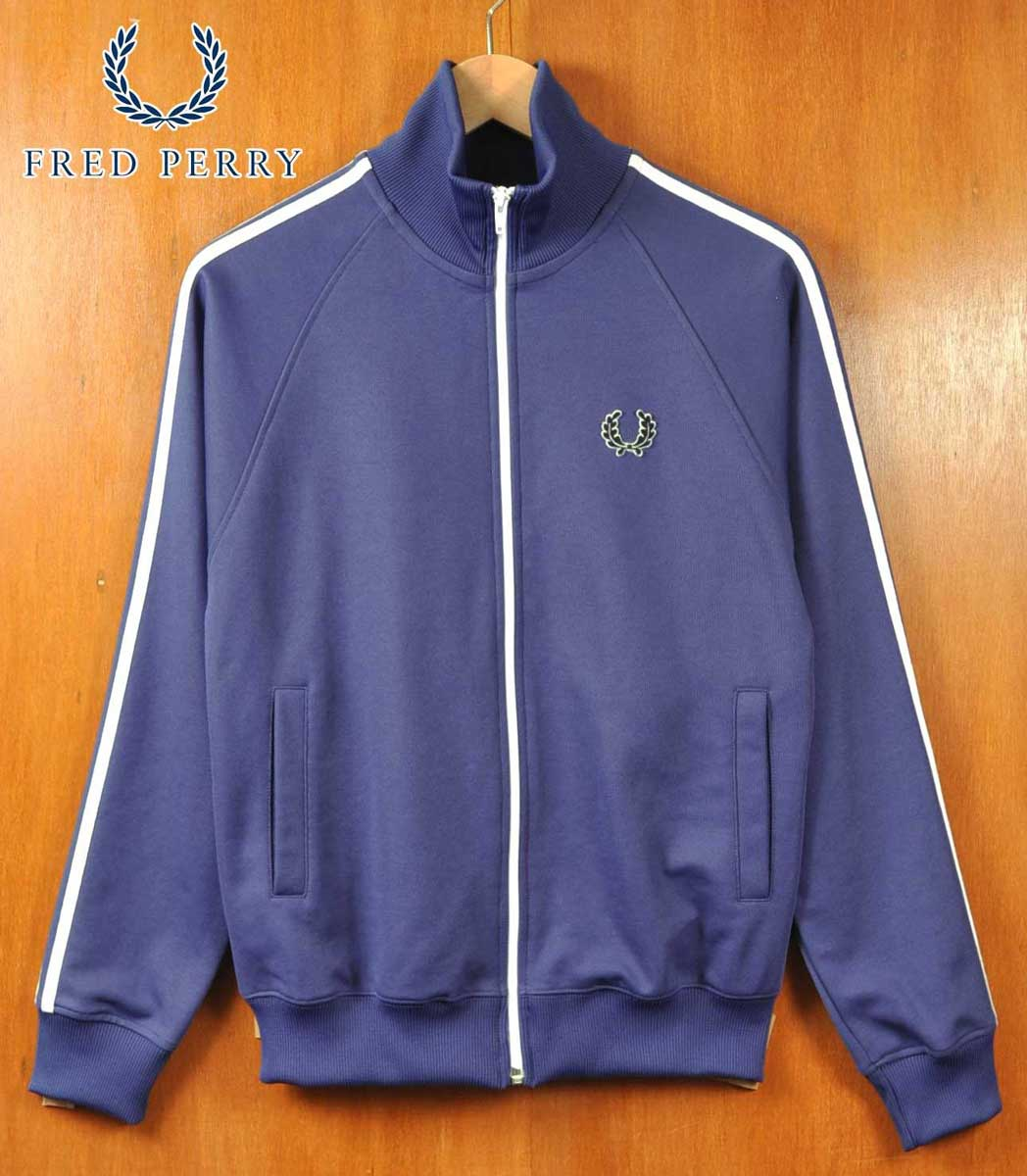 fb96e68b FRED PERRY Fred Perry / jersey / blue gray X white / men XS made ...