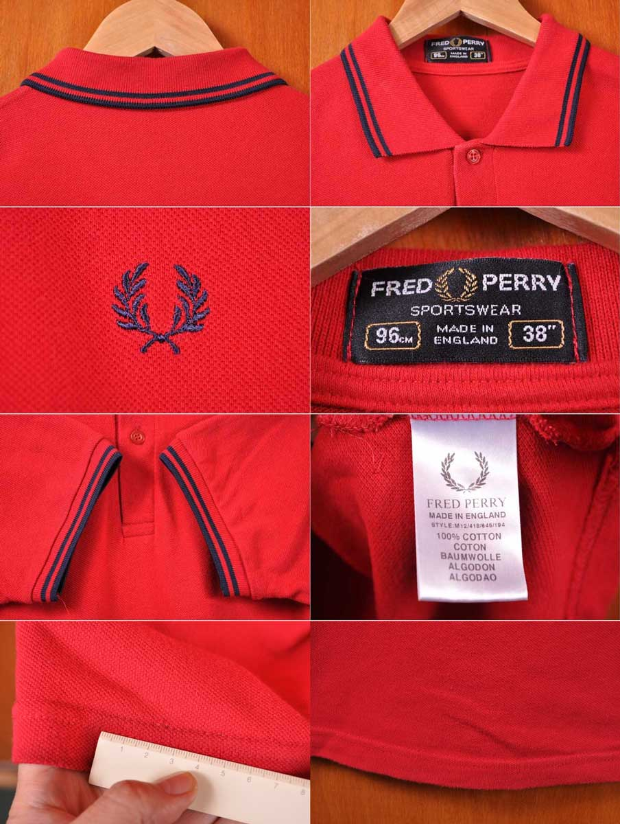 9401e711 ... English product made in / FRED PERRY Fred Perry / short sleeves polo  shirt / red
