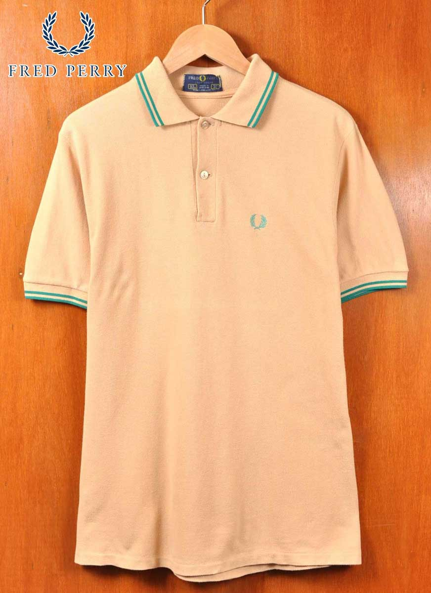 52e2284a FRED PERRY Fred Perry / short sleeves polo shirt / beige system base X  green ...