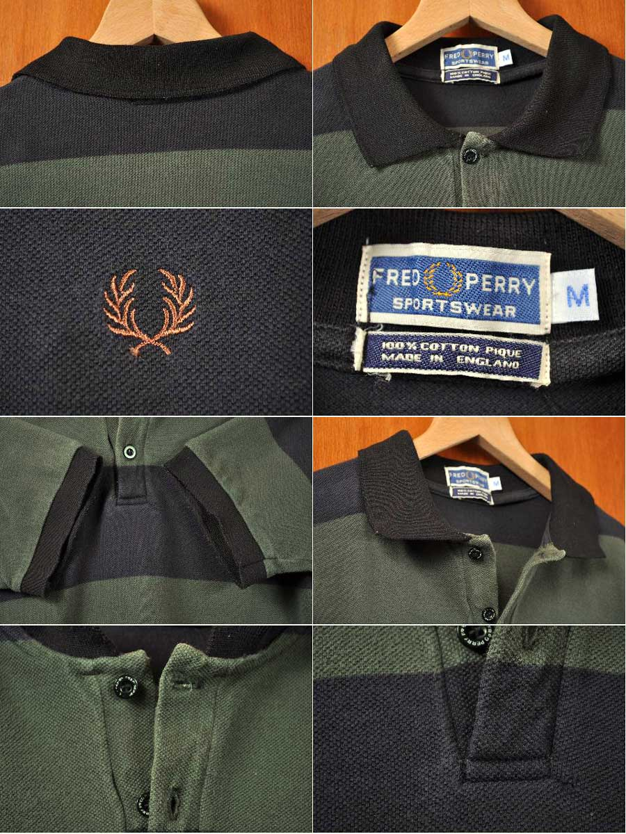 847d2ec6 ... FRED PERRY Fred Perry / short sleeves polo shirt / green gray X black  horizontal