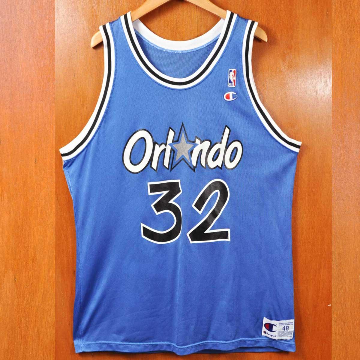 e55ba2197 CHAMPION champion   NBA ORLANDO MAGIC Orlando Magic   Shaquille O Neal    basketball tank top uniform numbering   blue   men XL equivalency in the  vintage ...
