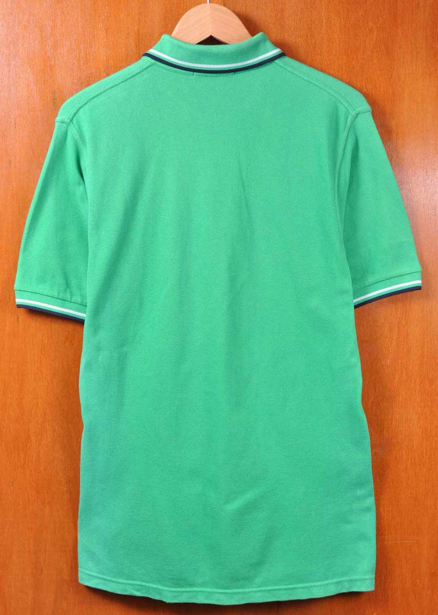 79153a01 ... FRED PERRY Fred Perry / short sleeves polo shirt / green base X white X  ...