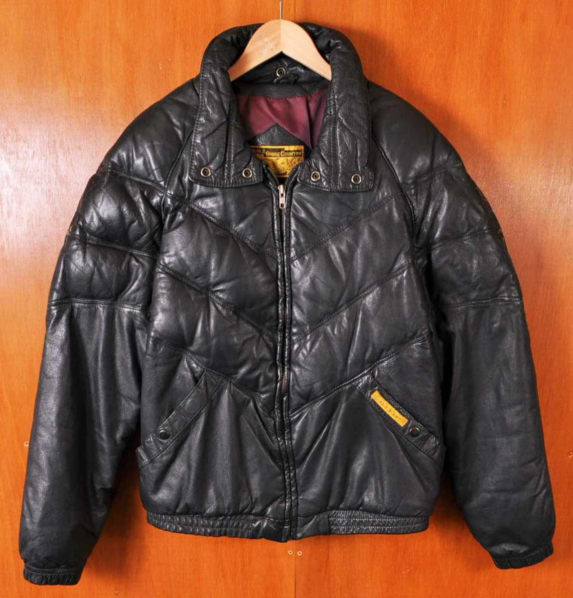 Vintage Leather Jacket >> Used Clothing Penguintripper Vintage 1980s Double Goose Country