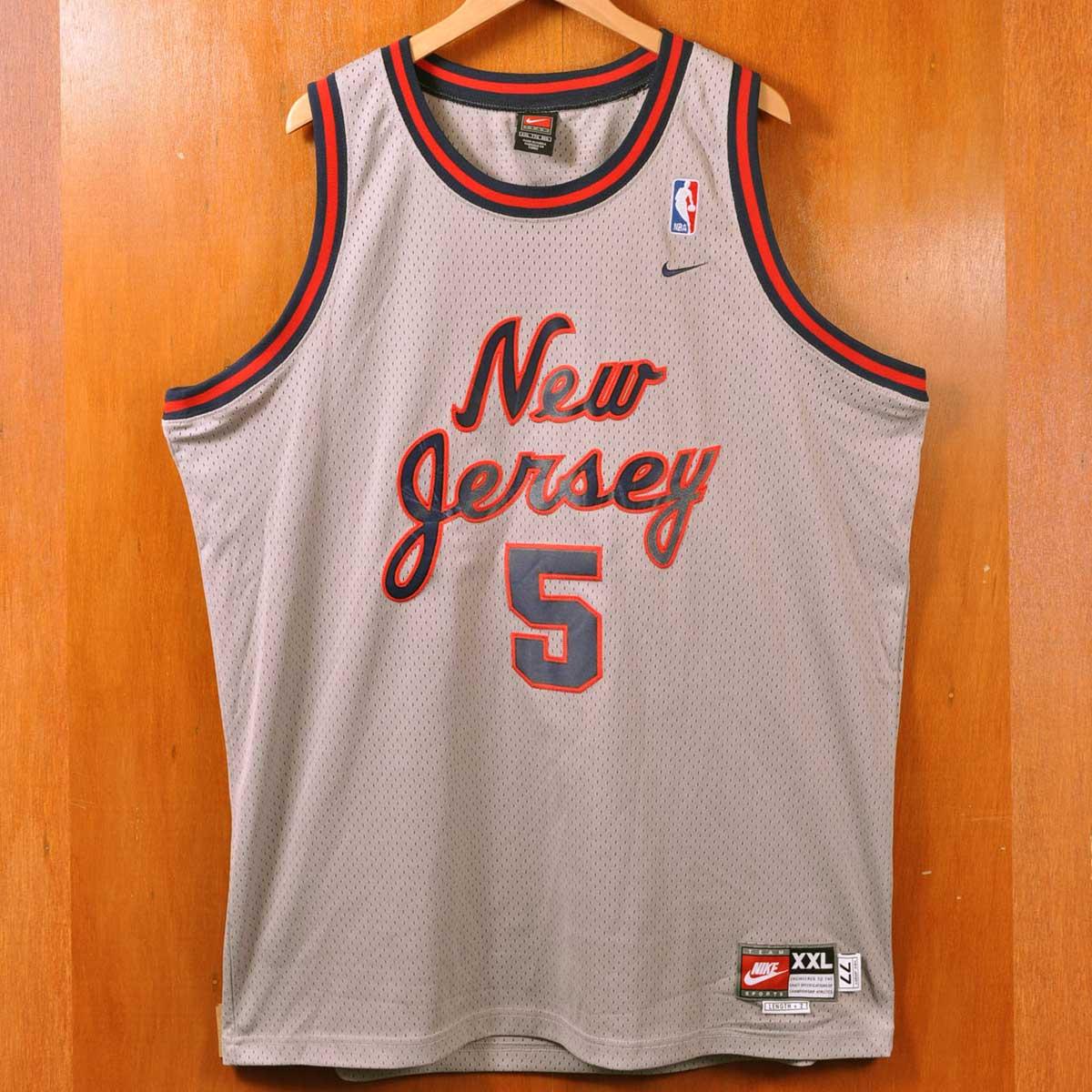de9ed2e5bb9 NIKE Nike NBA New Jersey Nets New Jersey Nets Jason Kidd basketball tank  top uniform numbering ...