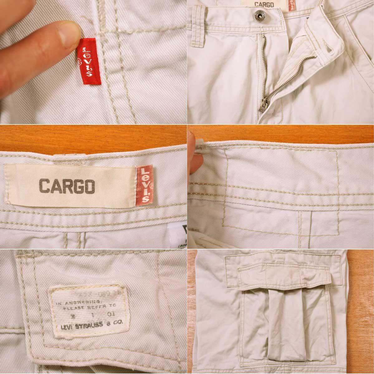 da0d34c6 ... Levi's Levis 6 pocket half underwear cargo shorts off-white system W30  equivalency▽