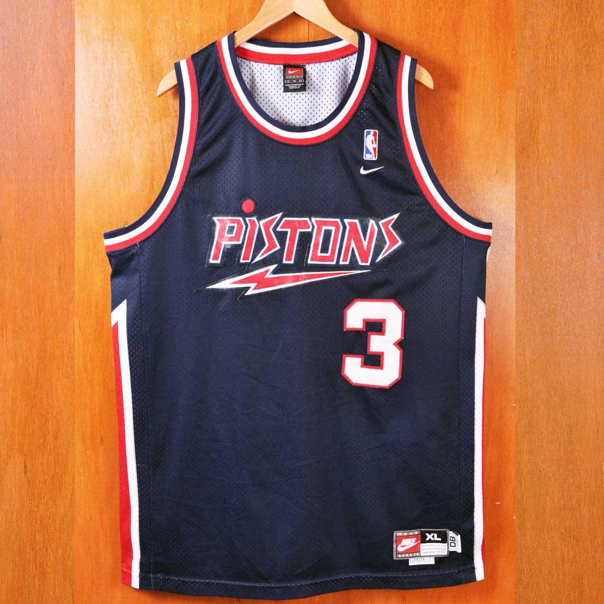 hot sale online f8655 70eb6 NIKE Nike NBA Detroit Pistons Detroit Pistons Ben Wallace basketball tank  top uniform numbering navy men XL▼