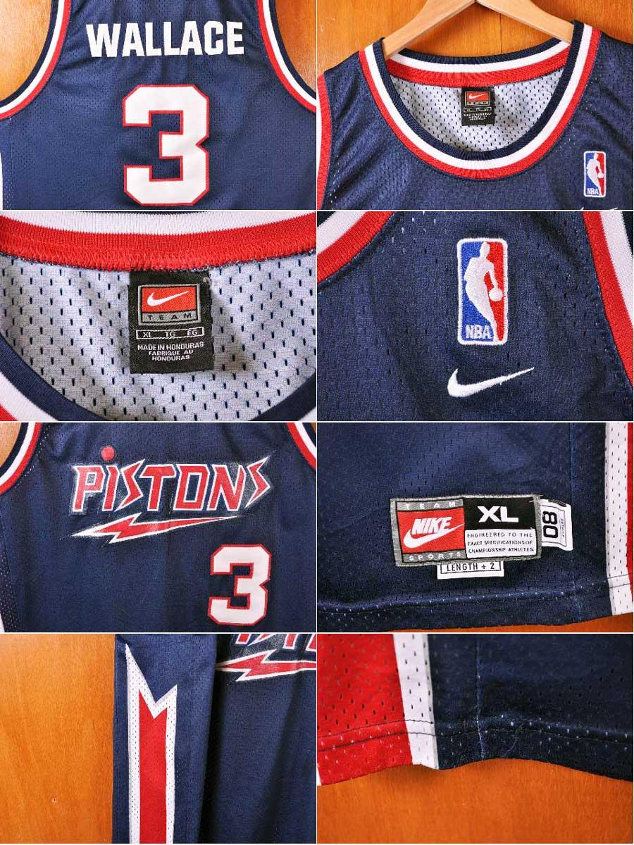 ... Throwback Stitched NBA Jersey NIKE Nike NBA Detroit Pistons Detroit  Pistons Ben Wallace basketball tank top uniform numbering navy men ... 43689783e