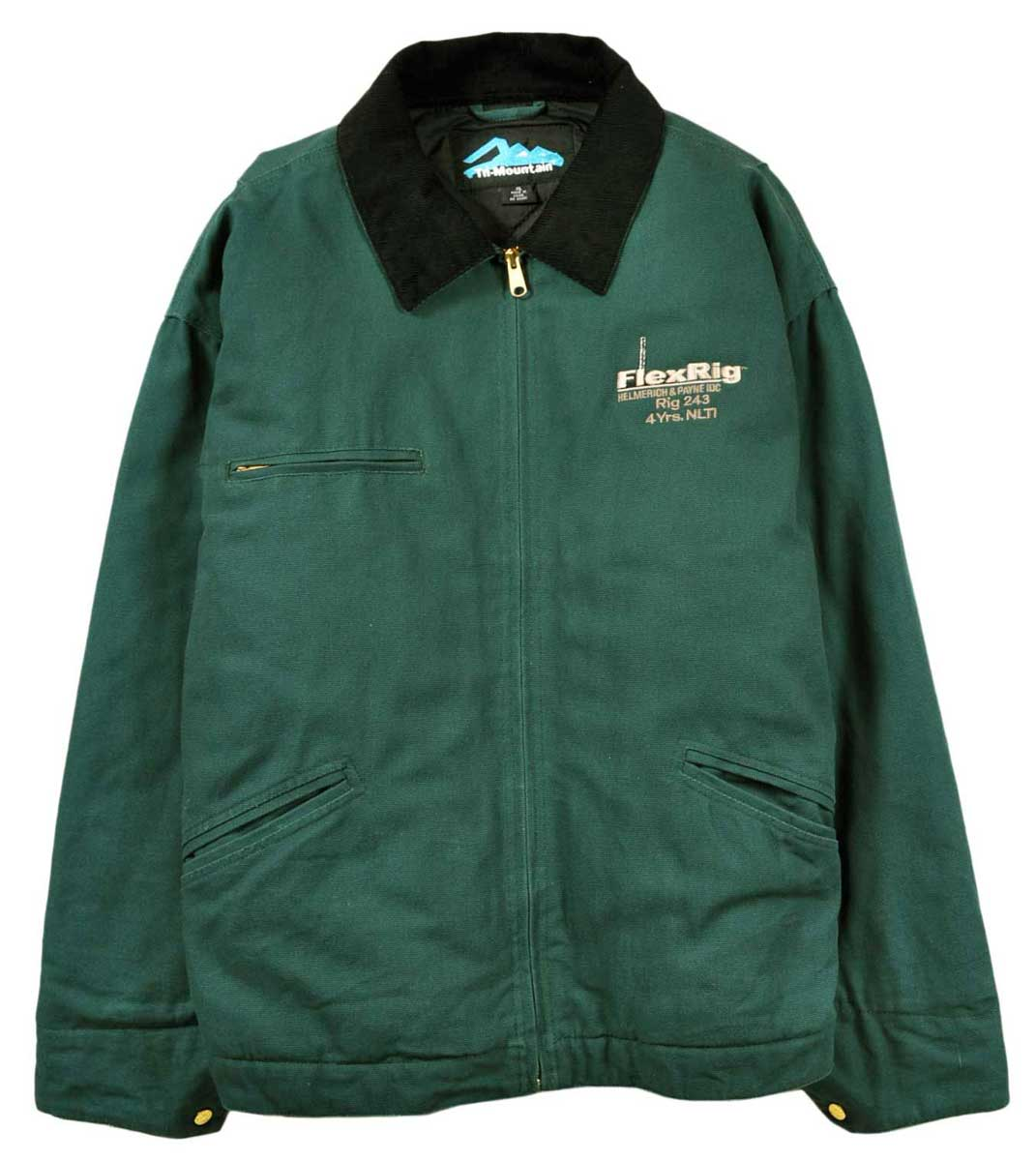 Entering Tri-Mountain company thing quilting liner cotton duck work jacket  green embroidery men XL▼