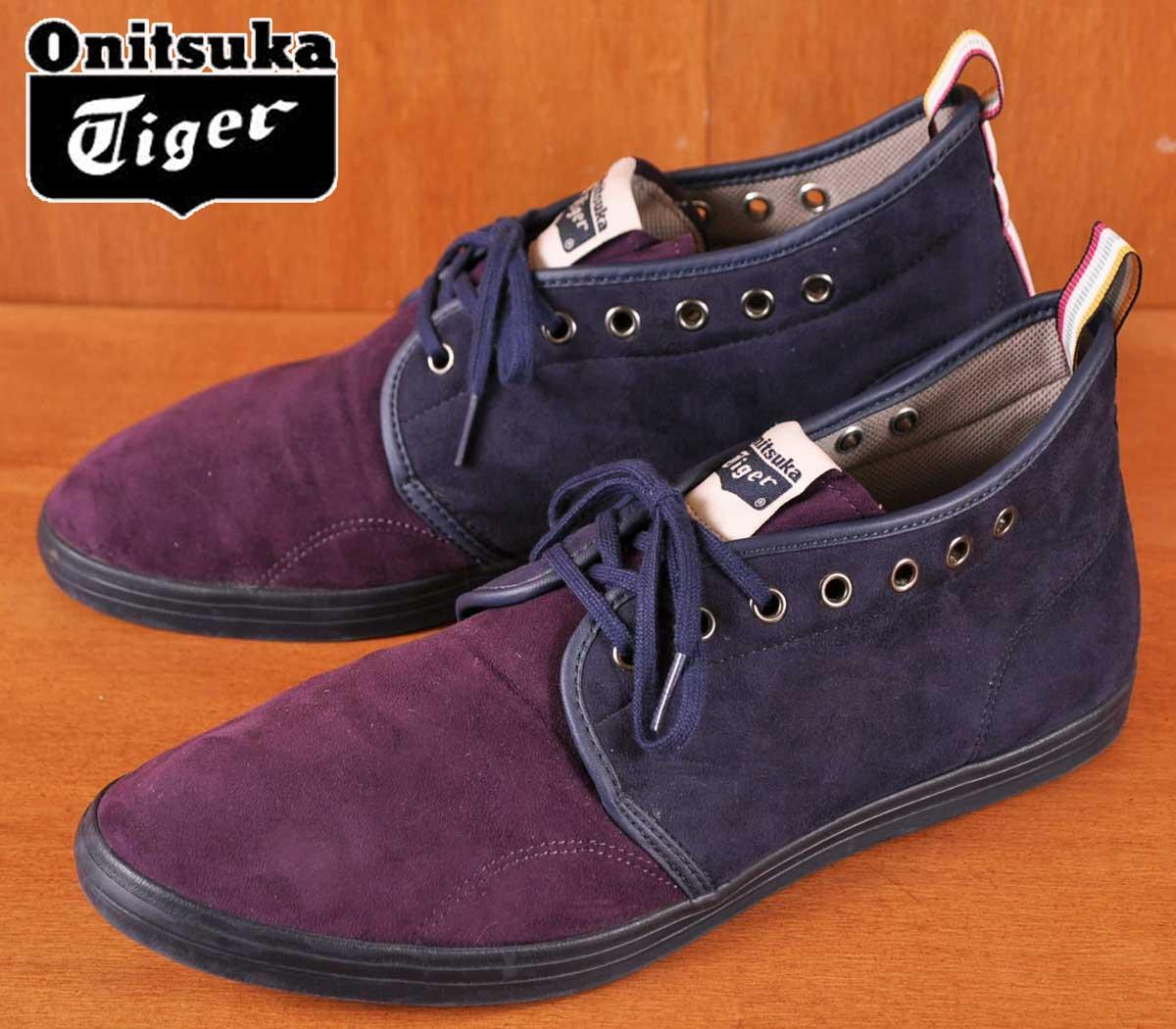 new style 52514 683dd Onitsuka Tiger Onitsuka tiger TWEENY CHUKKA トゥイーニーチャッカ TH0D1Y mid cut  sneakers purple X navy JPN28 .0cm▽