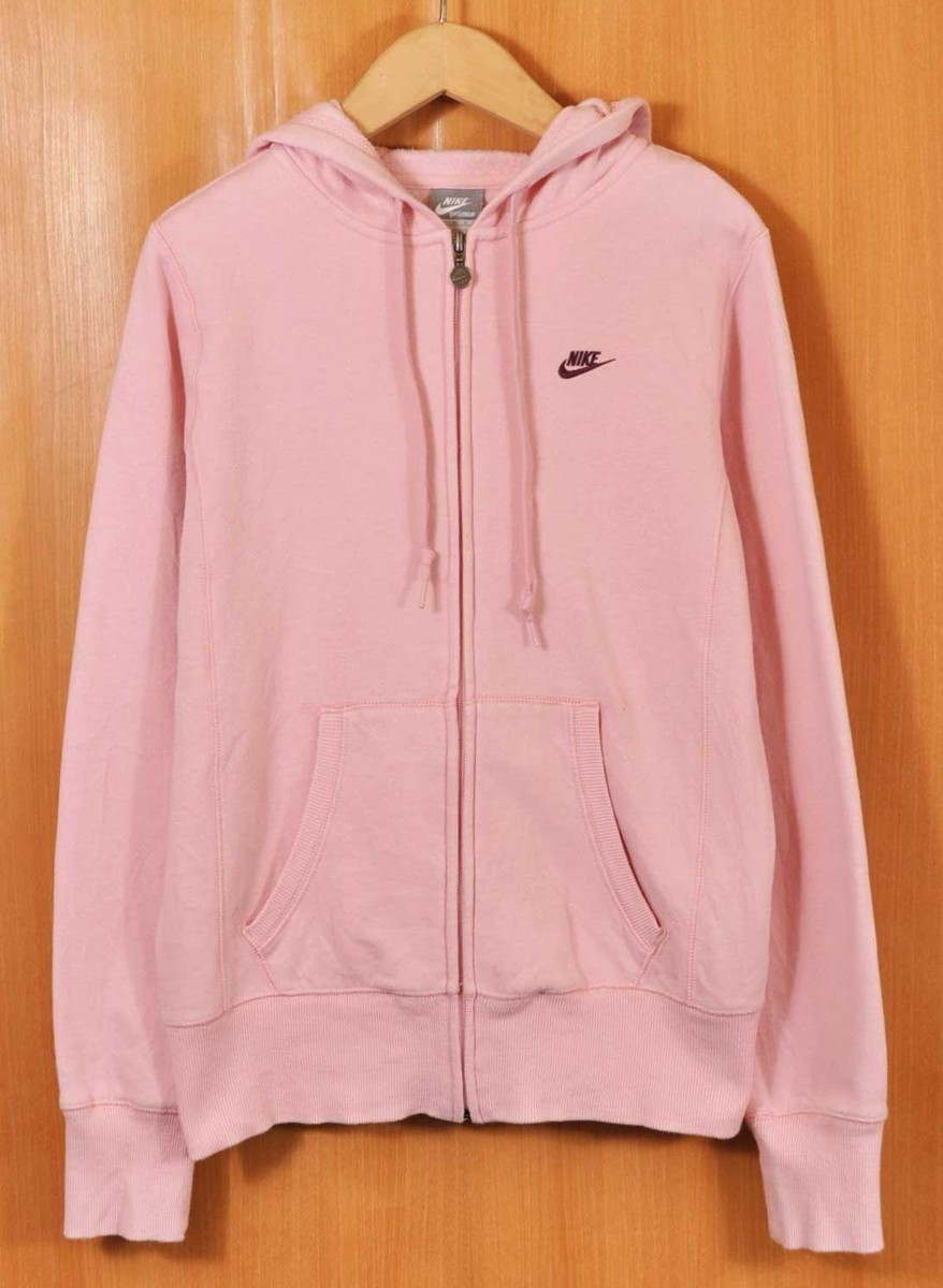 newest fantastic savings best shoes NIKE Nike full zip sweat shirt parka baby pink one point logo embroidery  Lady's M is considerable■