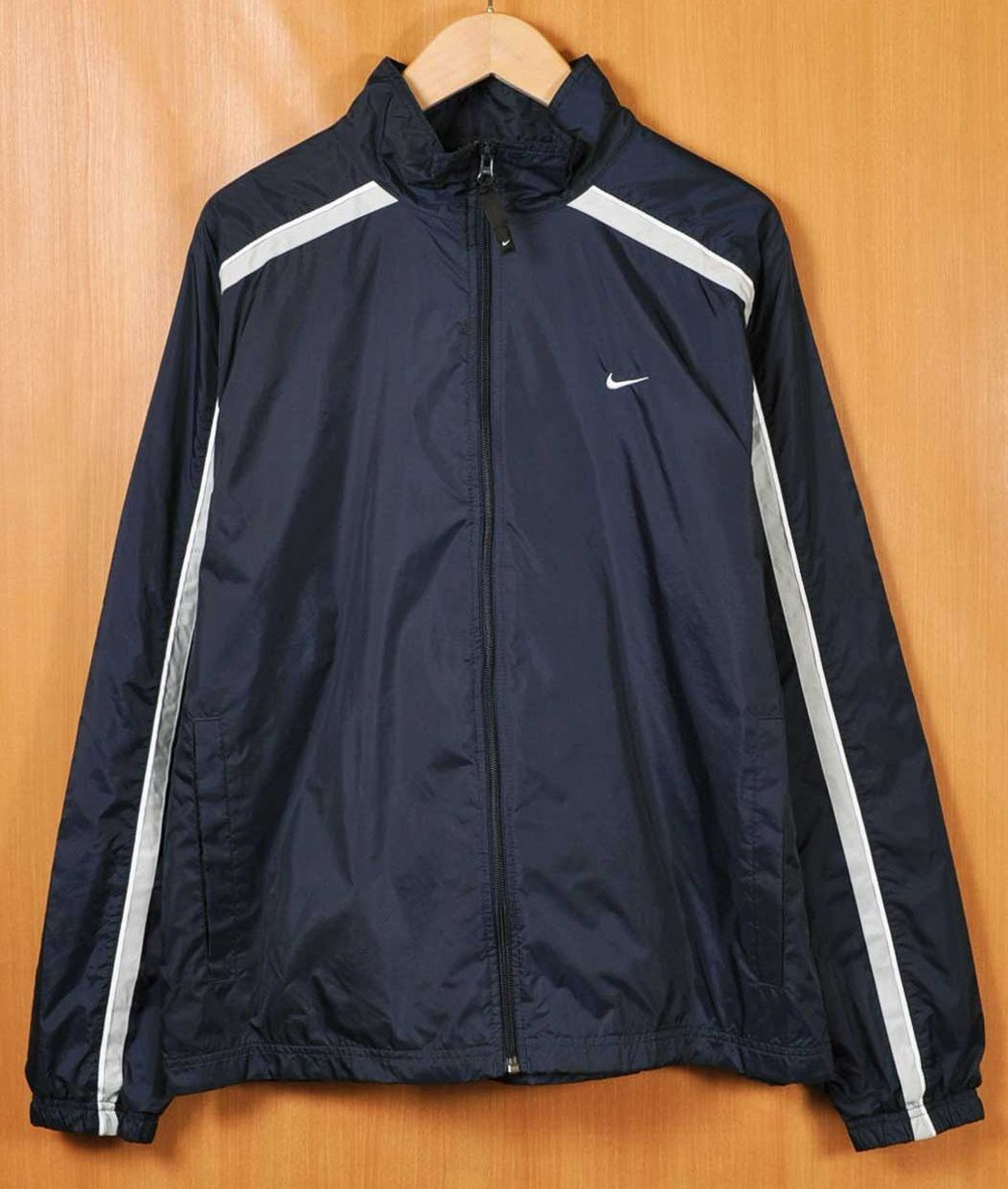 USED CLOTHING PENGUINTRIPPER  NIKE Nike nylon jacket navy X light gray men  L equivalency□  6174f74ce