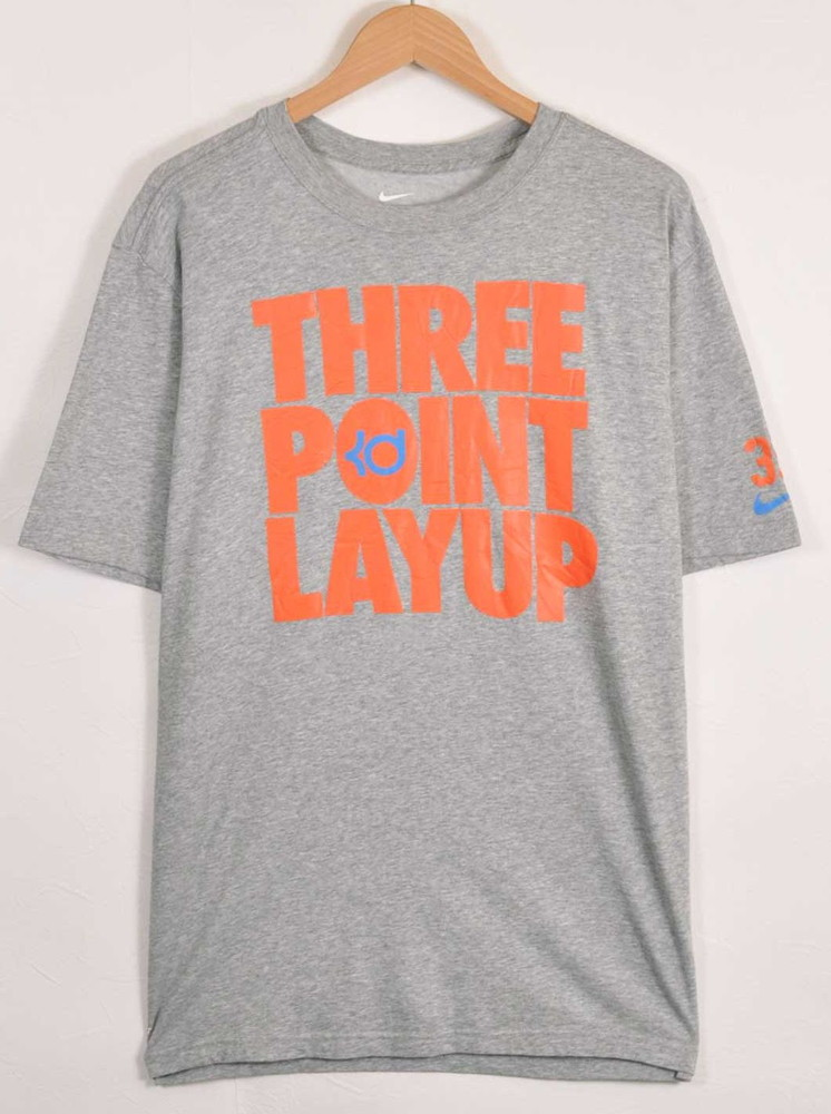 ae2f843a5b NIKE Nike DRI-FIT dry fitting KD Kevin Durant short sleeves T-shirt marbled  beef gray men XL▽