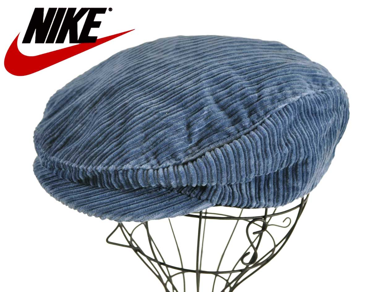 eec7f6f1b799f Vintage 1990s NIKE Nike large furrow corduroy hunting cap navy medium size▽