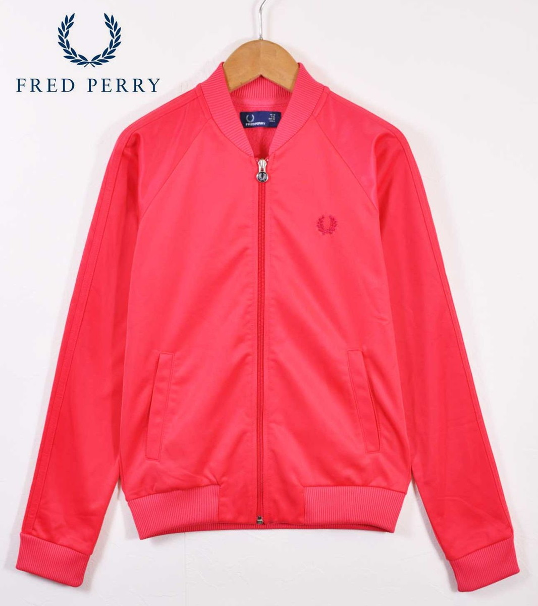 53816b3b USED CLOTHING PENGUINTRIPPER: FRED PERRY Fred Perry jersey shiny Pink  Lady's S equivalency made in Portugal▽ | Rakuten Global Market