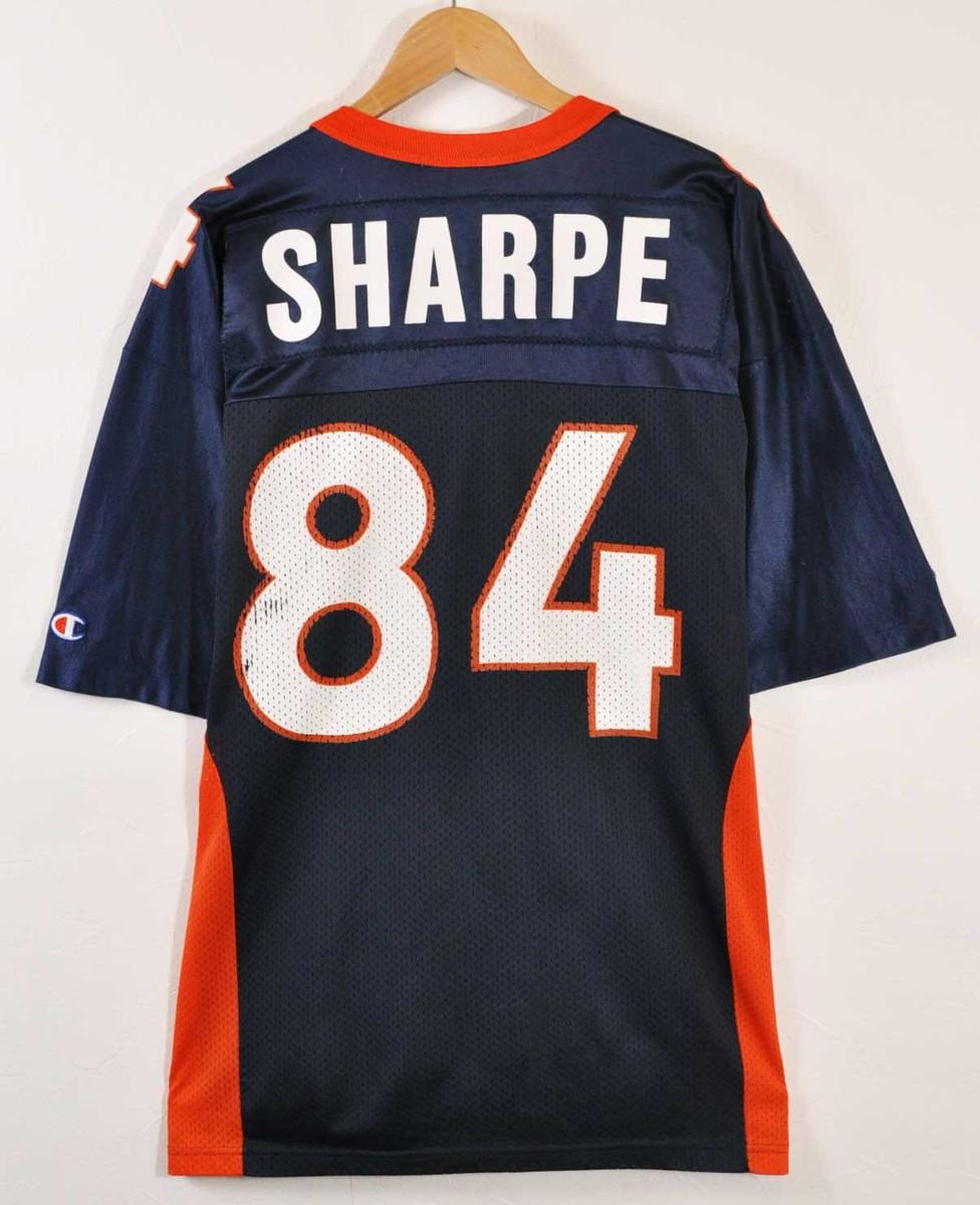 c8ed045ea CHAMPION champion NFL Denver Broncos Denver Broncos Shannon sharp football  shirt numbering mesh uniform navy X orange X white men L equivalency in the  ...