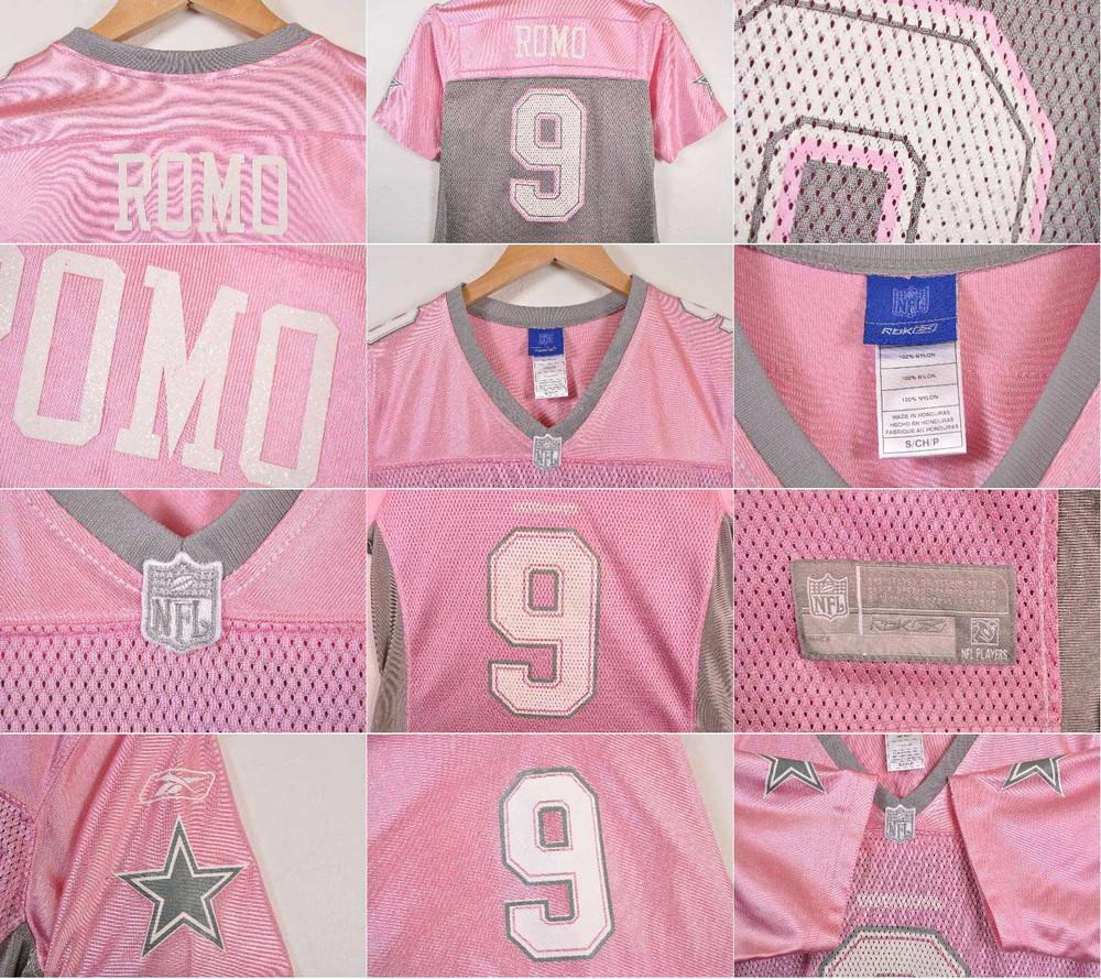 ae8a250ef83 ... Reebok Reebok NFL Dallas Cowboys Dallas Cowboys Tony  ロモフットボールシャツナンバリングメッシュユニフォームピンクレディース