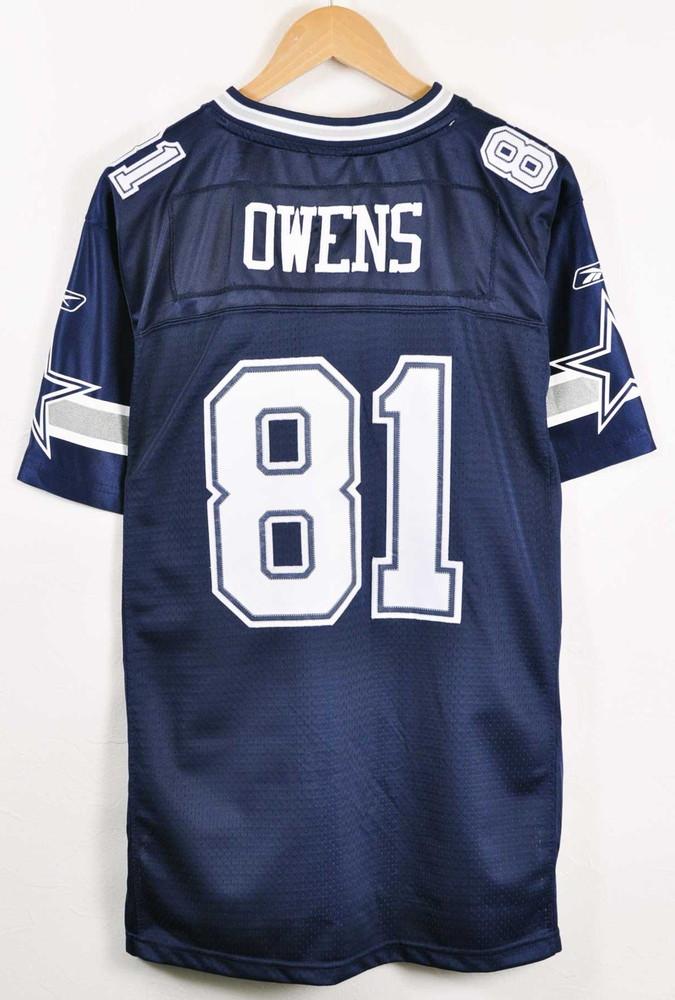 d9a29ac358c ... Reebok Reebok NFL Dallas Cowboys Dallas Cowboys Terrell Owens football  shirt numbering mesh uniform navy lady's ...