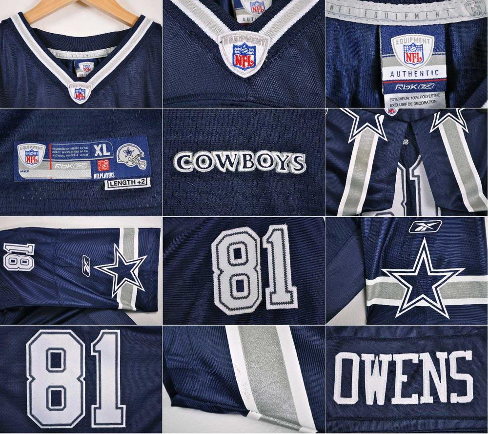 508f860c14d ... Reebok Reebok NFL Dallas Cowboys Dallas Cowboys Terrell Owens football  shirt numbering mesh uniform navy lady's