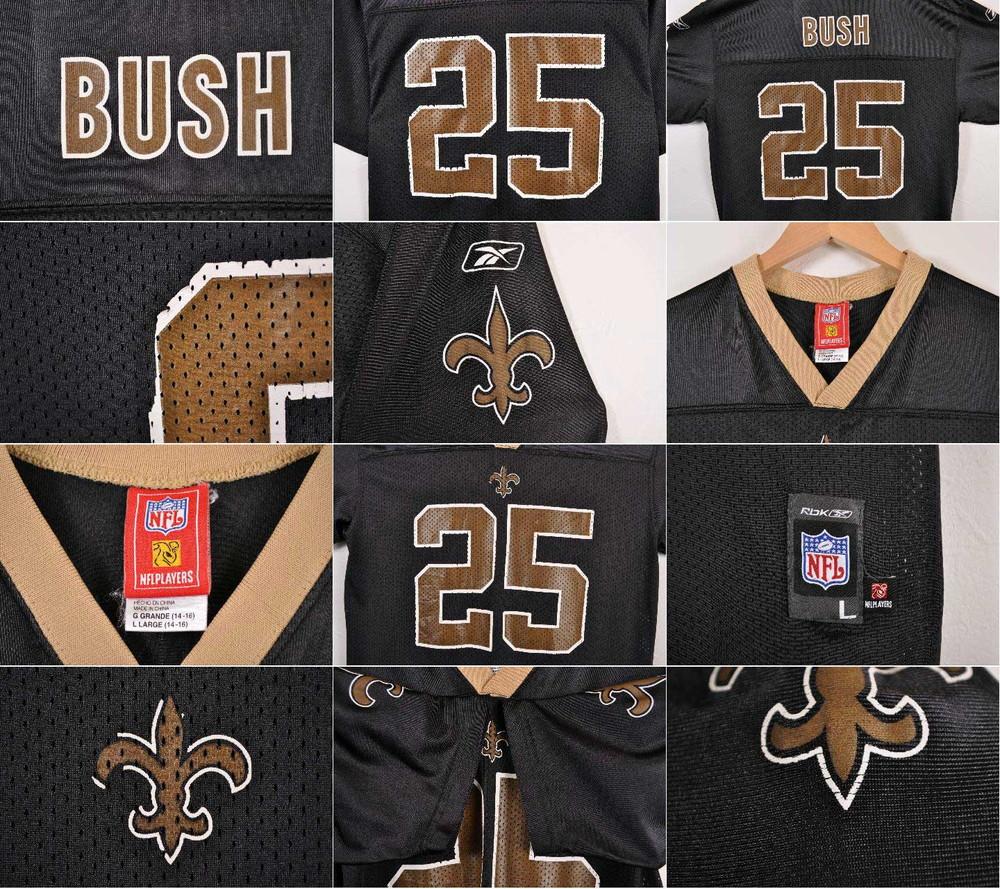 buy online 3e784 dbbdc Reebok Reebok NFL New Orleans Saints New Orleans Saints Reggie Bush  football shirt numbering mesh uniform black lady's L equivalency▼