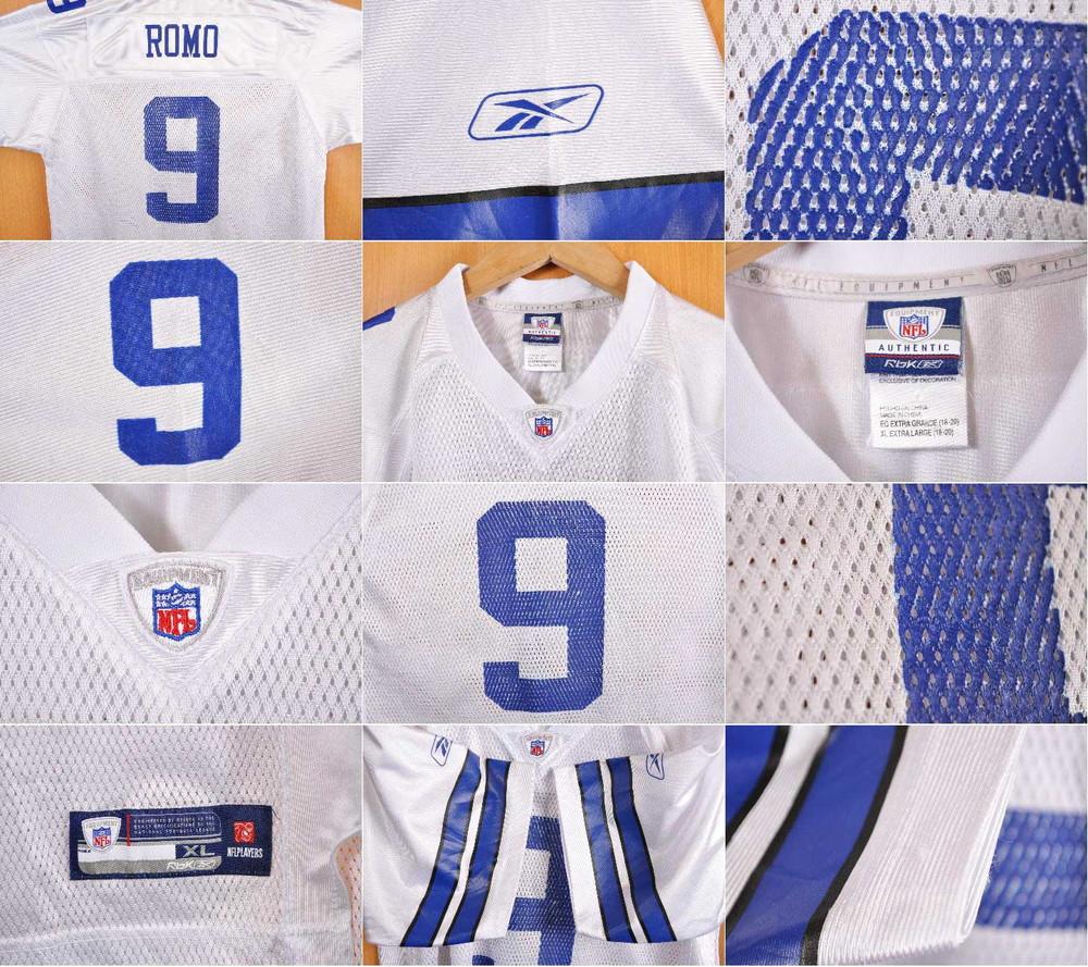 60f03cddefd Reebok Reebok NFL Dallas Cowboys Dallas Cowboys Tony  ロモフットボールシャツナンバリングメッシュユニフォームホワイトレディース XL equivalency▽