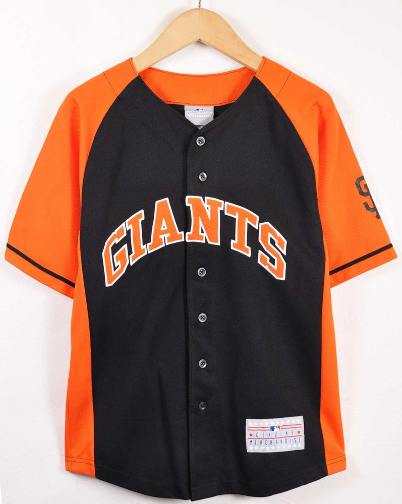 best website fe012 23cd5 MLB GENUINE MERCHANDISE MLB San Francisco Giants San Francisco Giants Tim  conditioner cam baseball shirt numbering uniform black X orange lady's M ...