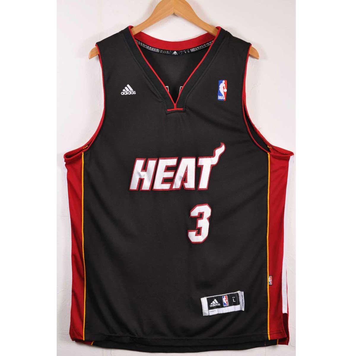 hot sale online 54d0b 009b8 adidas Adidas NBA Miami Heat Miami he Steller s sea lion Wayne Wade  basketball tank top uniform ...