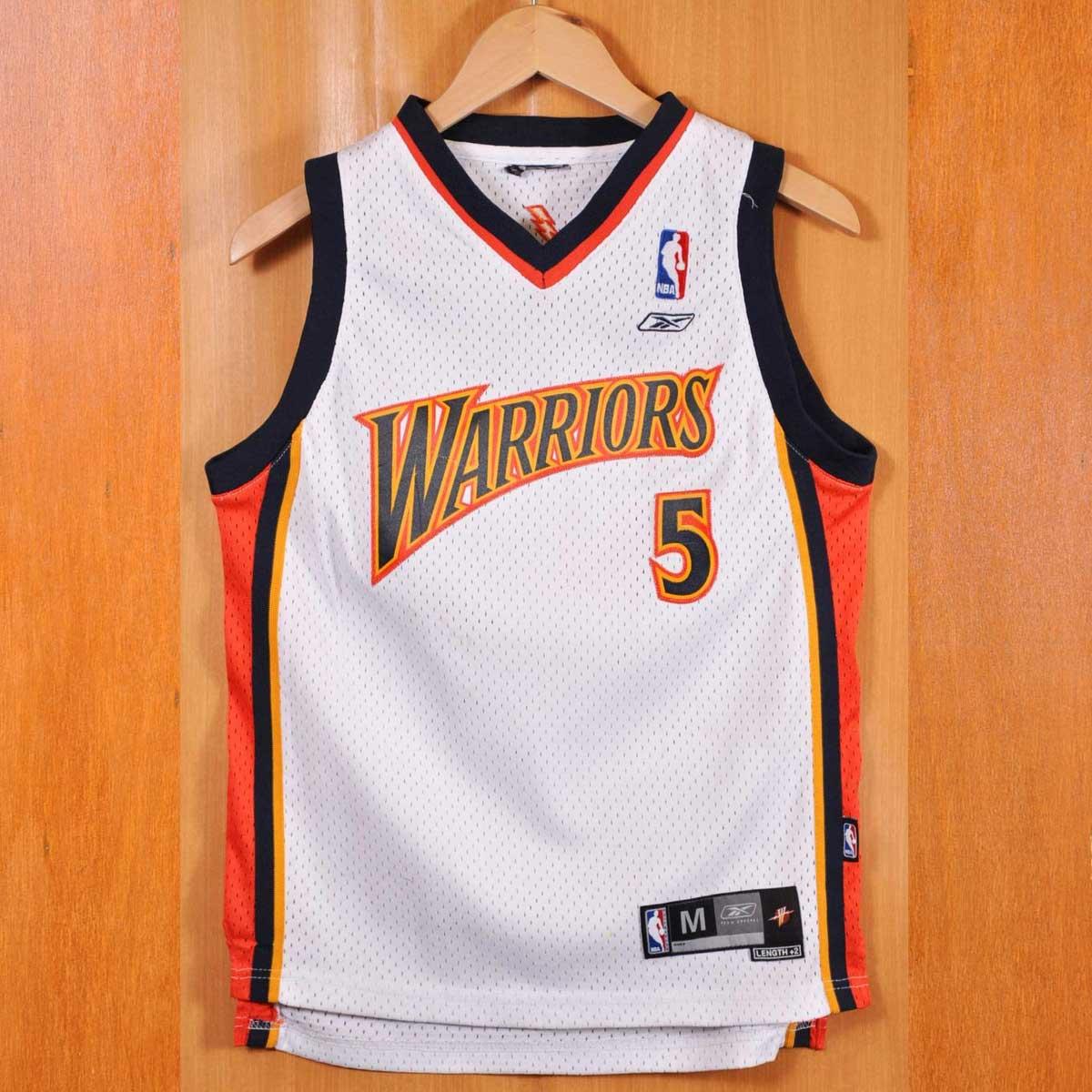 ed2d3bee245 Reebok Reebok NBA Golden State Warriors Golden State Warriors baron Davis  basketball tank top uniform numbering ...