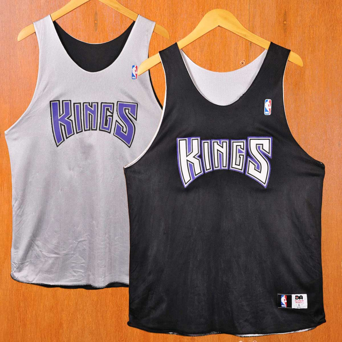 Don Alleson Athletic NBA Sacramento Kings Sacramento Kings reversible  practice bibb system basketball tank top black X white men M equivalency▽ 3ace59244
