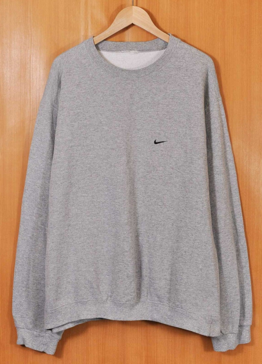 los angeles f705c dcd68 USED CLOTHING PENGUINTRIPPER  NIKE Nike sweat shirt marbled beef gray X one  point embroidery men XL equivalency□   Rakuten Global Market