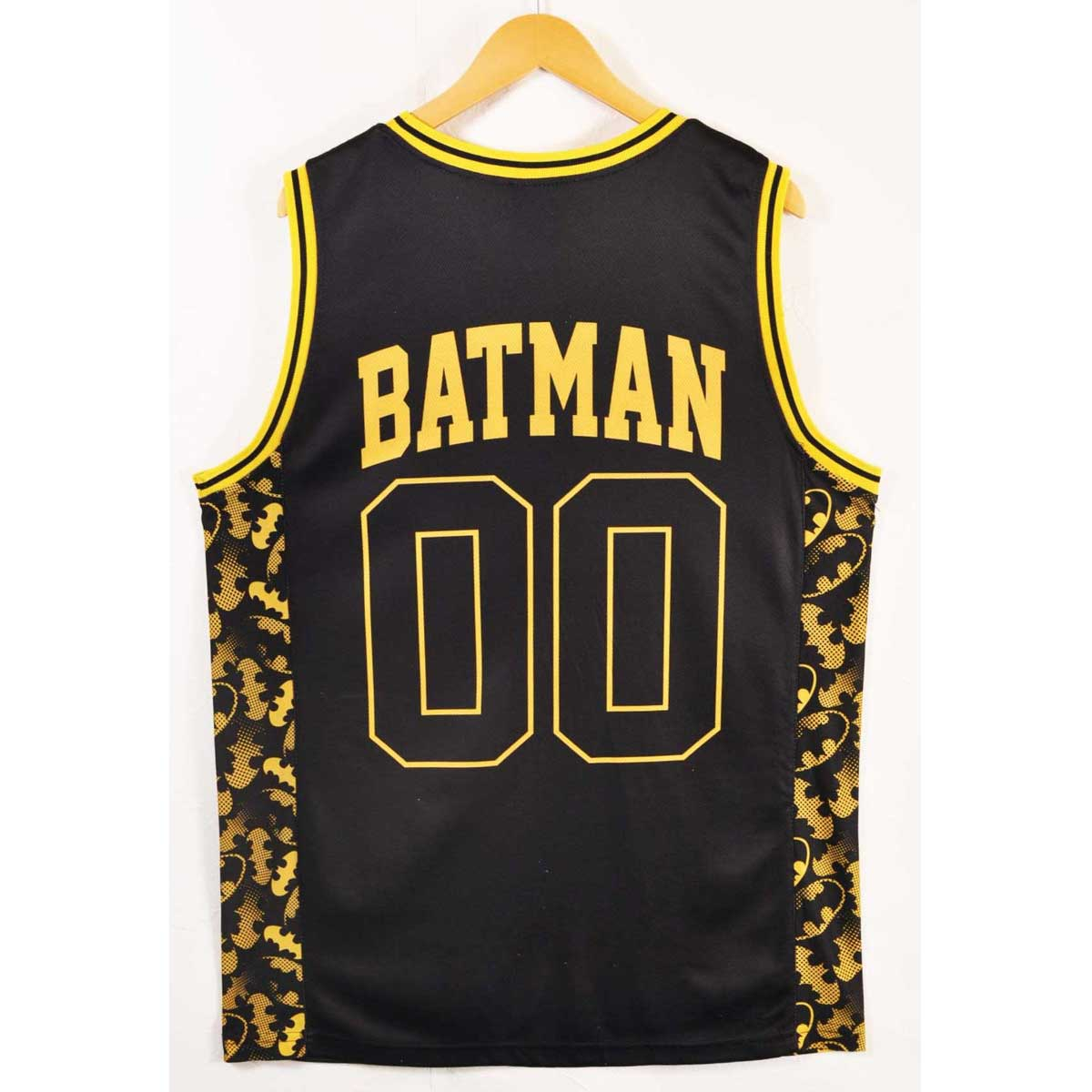508868333ab ... DC COMIC BATMAN battement basketball tank top-style mesh tank top black  X yellow numbering ...